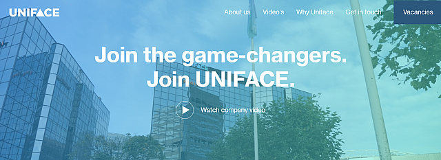 Screenshot careers uniface com